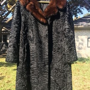 Vintage Swakara Lamb and Genuine Mink Coat